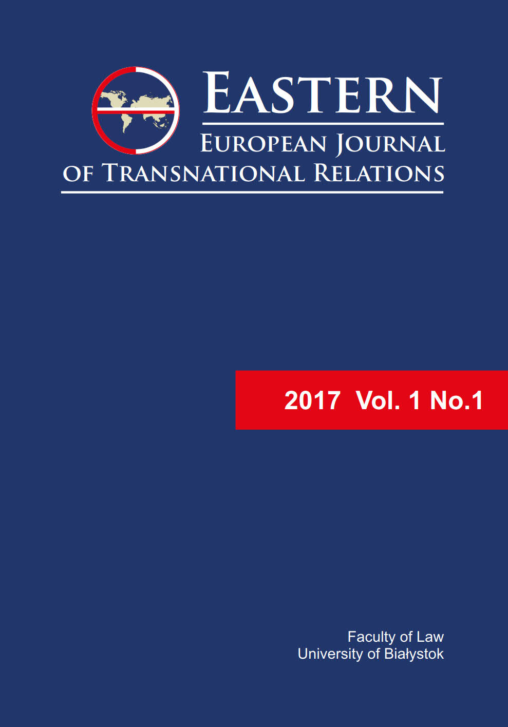 EEJTR 2017 Vol. 1 No. 1 - cover image